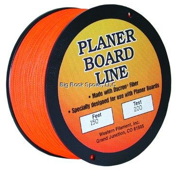 Tuf Line Planer Board 150 Yards Fishing Line, Orange, 200 lb