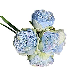 Clearance Sale! Neartime Artificial Flowers Fake Silk Peony Flower Bouquet Floral Plants Decor for Home Garden Wedding Party Decor Decoration 70
