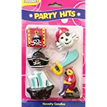 Pirate Party Birthday Cake Candles - Set of 6