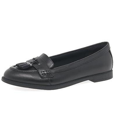 7d8373f716f Clarks Preppy Edge Girls Senior School Shoes 6 UK G Black  Amazon.co.uk   Shoes   Bags