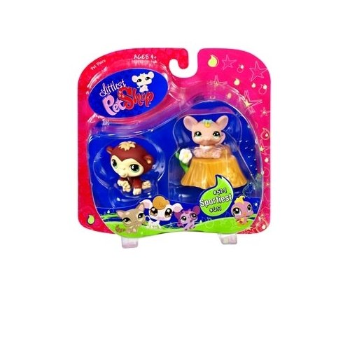 (Littlest Pet Shop Exclusive Sportiest Pet Pairs Ape & Mouse with)