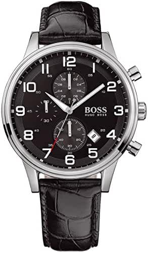 Hugo Boss Black 1512448 Round Black Dial Steel Case Men's Classic by HUGO BOSS