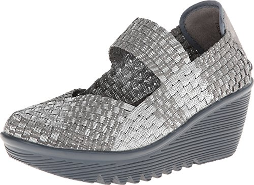 bernie mev. Women's Lulia Silver/Grey Wedge 41 (US Women's 10.5) M
