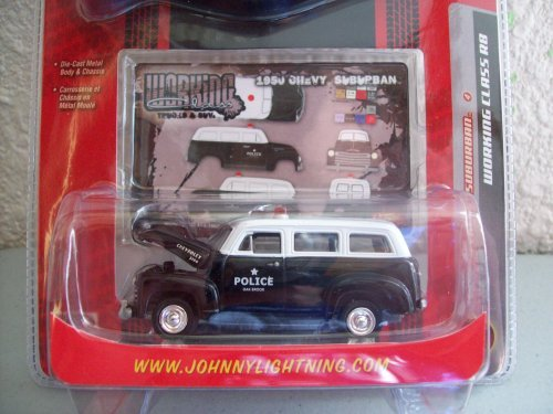 Johnny Lightning Working Class R8 Oak Brook Police 1950 Chevy - Brooks Oak