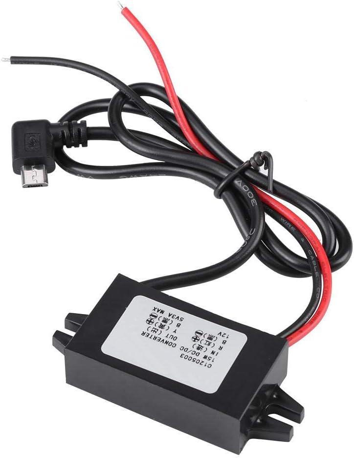 Ccylez DC-DC Konverter Radio LED Anzeige Micro USB Konverter Modul f/ür Autoradio /Überwachung 12V bis 5V 3A Abw/ärtswandler Spannungswandler Step Down Regler
