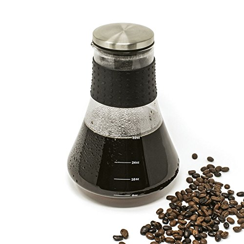 Kolob Cold Classic - Stainless Steel Airtight Glass Carafe Coffee Maker and Iced Tea Maker for ...