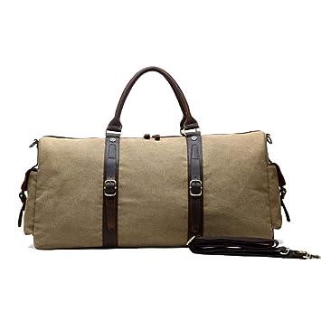 b3cddbcdde91 Amazon.com: Ybriefbag Unisex Canvas Traveling Bag, Large Capacity ...