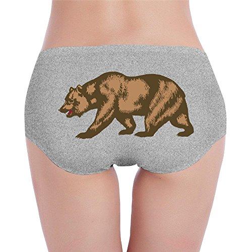 - DXLUYE California Republic Golden Big Bear Print Underwear