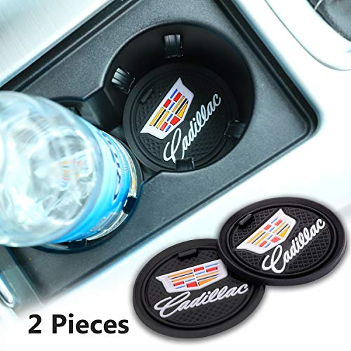 Forno 2 Pack 2.75 inch Car Interior Accessories Anti Slip Cup Mat for Cadillac All Models (for Cadillac)