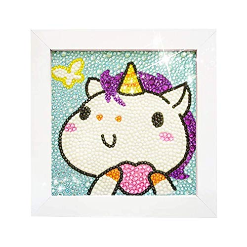 5D Diamond Painting Full Drill Kits for Kids with Frame 6X6 Inch (Horse)
