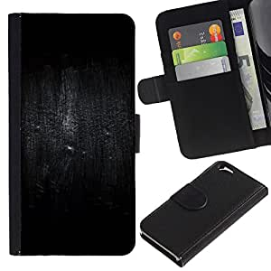 EJOY---La carpeta del tirón la caja de cuero de alta calidad de la PU Caso protector / Apple Iphone 6 / --Pájaro Oscuridad Lluvia Profundo