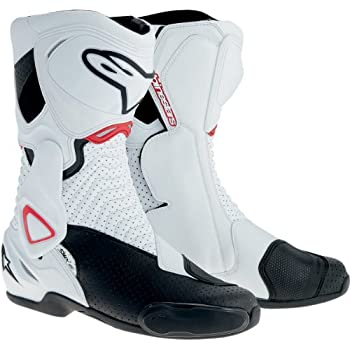 Alpinestars SMX-6 Men's Motorcycle Street Boots Vented (White/Black/Red, EU Size 36)