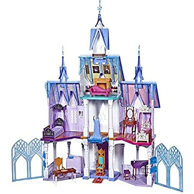 Disney Frozen Ultimate Arendelle Castle Playset Inspired by The Frozen 2 Movie, 5'. Tall with Lights, Moving Balcony, & 7 Rooms with Accessories: Toys & Games