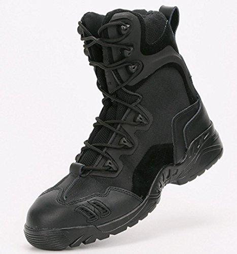 da Stivali Stivali Stivali black HYLM da tattici in deserto da Outdoor escursionismo combattimento Soldati pelle Stivali militari B5gPqw