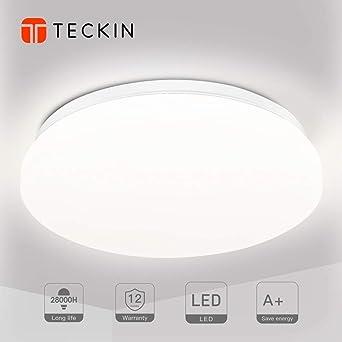 LED Deckenleuchte Badezimmer Dekoration Lampen 24W Deckenlampe, TECKIN  Deckenlampe LED Badlampe wohnung modern badezimmerlampe, schlafzimmer, ...