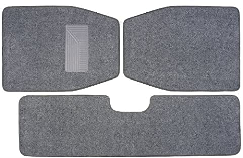 Luxury Driver 44036 SUV Light Gray Carpet Floor Mat Set - 3 Piece - Country Van Carpet