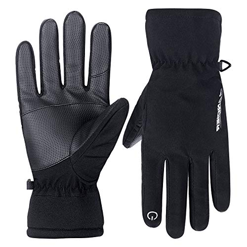 Lanyi Winter Thermal Gloves Windproof Thinsulate Screen Touch Cycling Ski Outdoor Sports Thick Fleece Gloves for Men Women Cold Weather Gloves (X-Large)