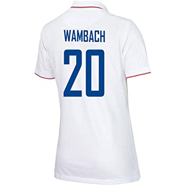 96274015ce7 Amazon.com  WAMBACH  20 USA Home Soccer Jersey Women s 2014 2015 (XS ...