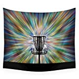 Society6 Disc Golf Basket Silhouette Wall Tapestry Large: 88'' x 104''