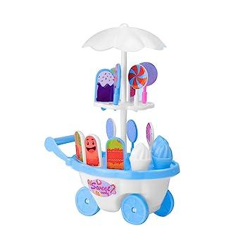 Toyvian Simulación para niños Caramelo de Helado Carro de Juguete Mini Pusher Car Pretend Play Toy (Color Aleatorio): Amazon.es: Hogar