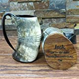 Unique Custom Buffalo Horn Mug Personalized Gift
