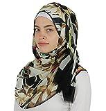 Aker 'Angel' Chiffon Turkish Muslim Women's Shawl Abstract Headscarf Islamic Hijab #7219-911