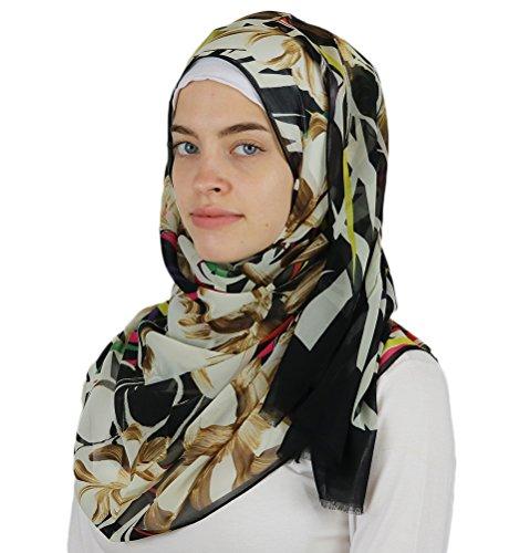 Aker 'Angel' Chiffon Turkish Muslim Women's Shawl Abstract Headscarf Islamic Hijab #7219-911 by Aker