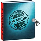 """Peaceable Kingdom Top Secret Invisible Ink Pen 6.25"""" Lock and Key, Lined Page Diary for Kids"""