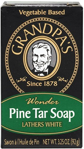 Pine Tar Soap - 3.25 oz Bar (6 Pack) (Deodorant Grandpas)
