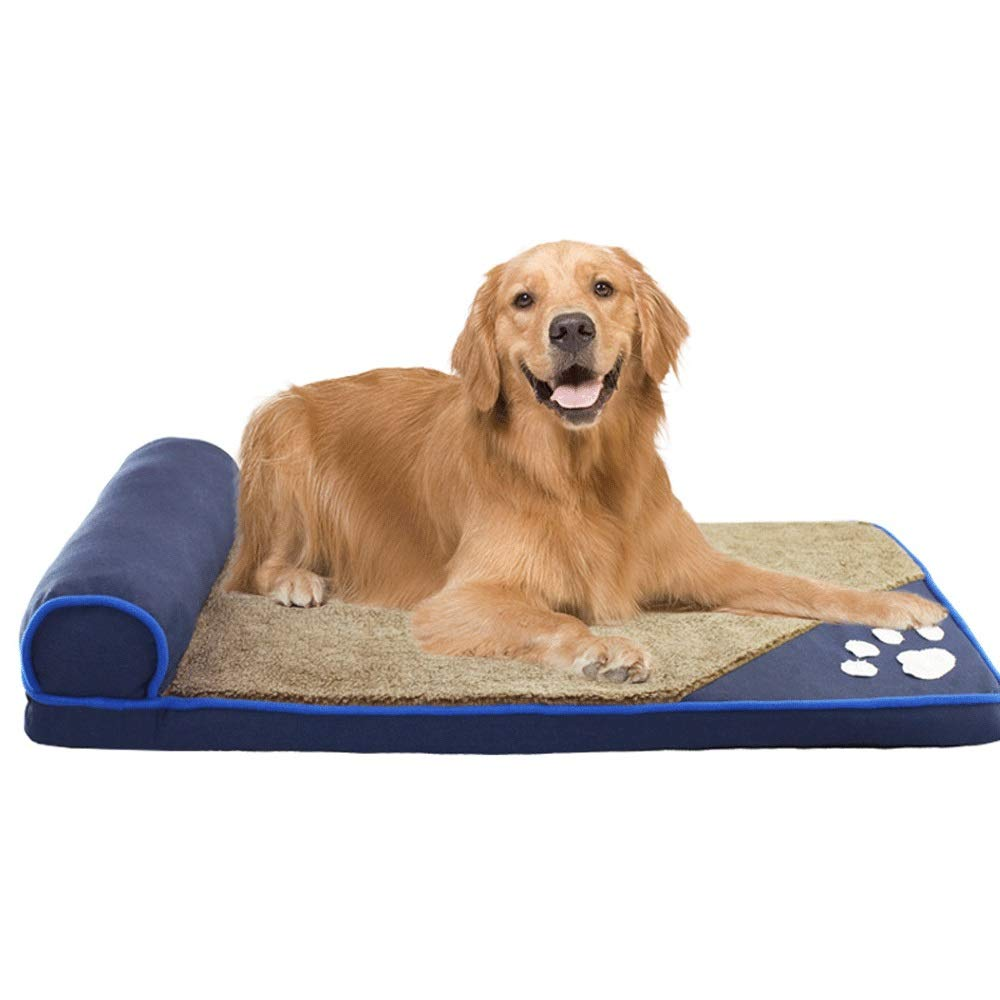bluee Small5GHjkj Cashmere Plus Cotton Thickening Fashion Dog Kennel Dog Bed Pet Mat Large Pet Washable Autumn and Winter