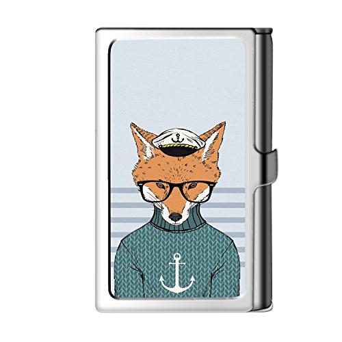Design Sliver Business Card Holder, Metal Stainless Steel Name Wallet Credit Case for Men & -