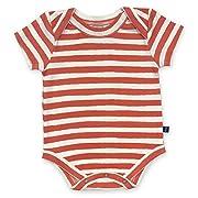 Finn + Emma Emily Winfield Martin Organic Cotton Lap Bodysuit for Baby Boy Or Girl – 3-6 Months, Red Stripes