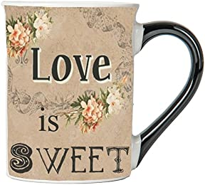 Love Is Sweet Mug, Vintage Coffee Cup, Ceramic Vintage Mug, Vintage Gifts By Tumbleweed