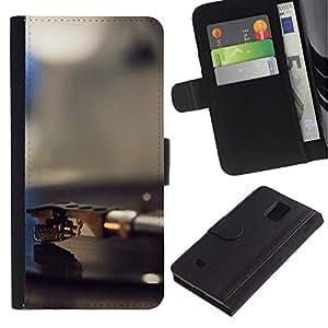 Stuss Case / Funda Carcasa PU de Cuero - Vinilo jugador Aguja - Samsung Galaxy Note 4 IV
