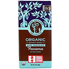 Equal Exchange, Organic Panama Extra Dark Chocolate Bar Whole Trade Guarantee, 2.8 Ounce Pack of 12 1 <p>This dark bar is perfectly balanced to allow the true chocolate flavor of the Panamanian beans to shine. Vegan and soy-free. Equal Exchange Organic Dark Chocolate Bar - Panama 95%+ Organic</p>