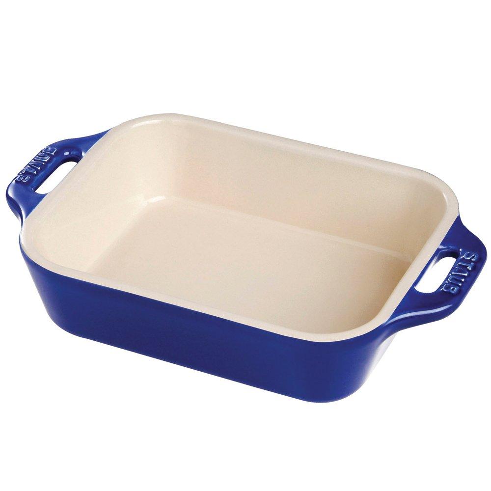 Staub 40508-594 Ceramics Rectangular Baking Dish, 13x9-inch, Dark Blue