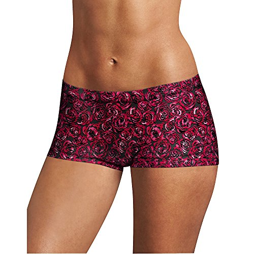 Roses Boyshort (Maidenform Women's Dream Tailored Boyshort With Lace, Rose Floral Print, 8)