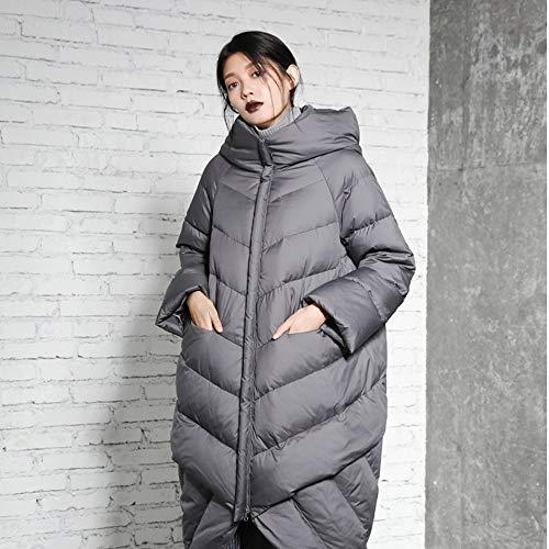 Winter Stitching Allentato Female Cappotto New Donna Giacca Giù Warm Hooded Fxchen Jacket Parka S Women Lungo Invernale nqH7f84B