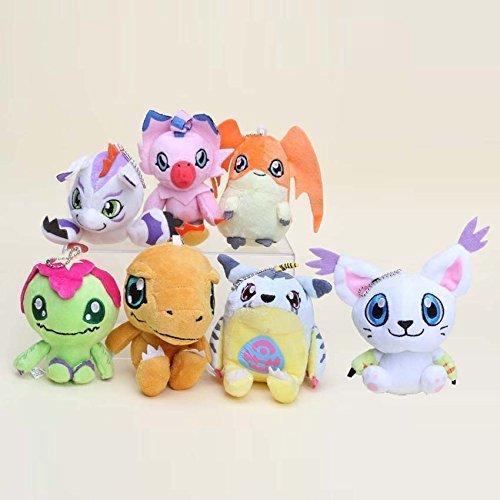 Digimon Plush Palmon Agumon Patamon Tailmon Gabumon Gomamon 7pcs Doll Stuffed Animals Figure Soft Anime Collection Toy