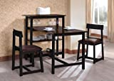 King's Brand D3763 Classic Dining Room Kitchen Set, Espresso and Black Finish image