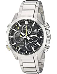Casio Mens Edifice Solar Connected Quartz Stainless Steel Casual Watch, Color:Silver-Toned (Model: EQB-501D...