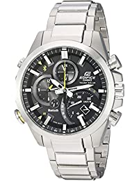 Casio Men's 'Edifice Solar Connected' Quartz Stainless Steel Casual Watch, Color Silver-Toned (Model: EQB-501D-1ACF)