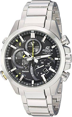 Casio Men's 'Edifice Solar Connected' Quartz Stainless Steel Casual Watch, Color:Silver-Toned (Model: (Casio Edifice Fashion Watch)