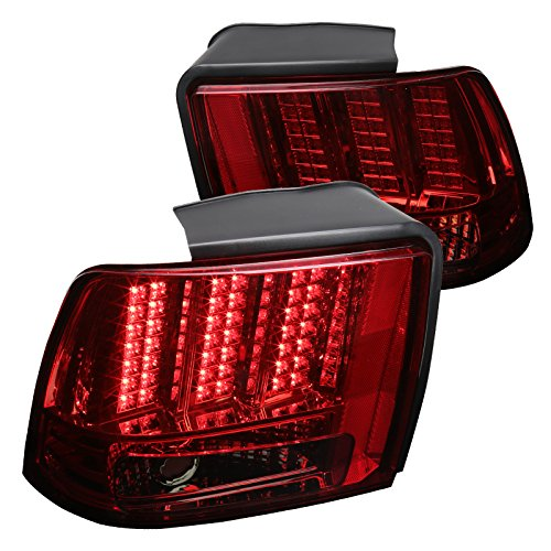 Ford Mustang Red/Smoke Sequential LED Rear Tail Lights Brake Lamps Left+Right