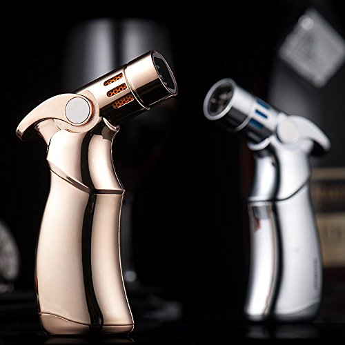 Jobon Quad Jet Straight Flame Butane Spray Torch Cigar Lighter ZB 659 one second to cool itself down