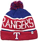 MLB Texas Rangers Men's Calgary Knit Cuff Cap, One-Size, Royal
