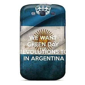 CharlesPoirier Samsung Galaxy S3 Bumper Hard Phone Cases Customized HD Green Day Pattern [ebW13961BEAb]
