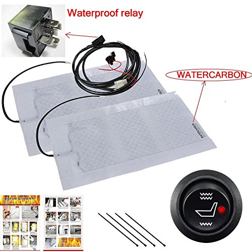 Far infrared Carbon Fiber Protection of health Seat Heater Kit Hi/Lo Setting 3 Years USA Warranty - 1 Seats