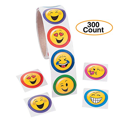 (Oriental Trading Company Emoji Stickers 1 1/2