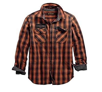 HARLEY-DAVIDSON Official Men's Oak Leaf Plaid Slim Fit Shirt, Plaid